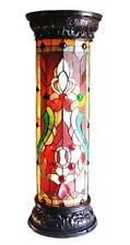 Stained Glass Chloe Lighting Victorian 1 Light Pedestal Fixture 30 Inches Tall