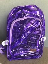 BNIP Jelly Beans Brand Full Size Purple Waterproof PVC Transparent Backpack Bag