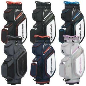 2021 TaylorMade Mens Pro 8.0 Golf Cart Trolley Bag Lightweight 14 Way Divider