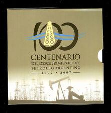 ARGENTINA BLISTER MONETA 2 PESOS UNC, KM145 2007-Centenario dell'olio in Argentina