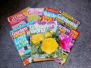 APRIL Garden Magazine Bundle X7 Magazines Inc Gardeners World, Garden News