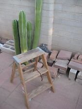 Vintage Wooden ** 2-Step STOOL LADDER   ** Barn Country Shabby Decor