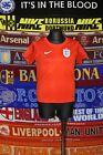 5/5 England boys 104-110cm 4-5 years 2014 away football shirt jersey trikot