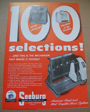 Seeburg Select-o-matic 100 Selections phonograph 1949 Ad-anywhere in the