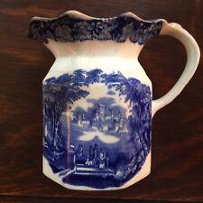 Mason's Vista Pitcher - Blue/White 1800's - Hydra Jug/Milk