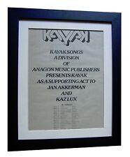 KAYAK+Starlight Dancer+TOUR+RARE ORIGINAL 1977 POSTER AD+FRAMED+FAST GLOBAL SHIP