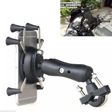 Motorcycle Bicycle Handlebar X-Shape 6 Feet 3.5-6 Inch Phone GPS Mount Holder