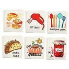 12 Pieces Swedish Dishcloths Reusable Sponge Cleaning Cloths Funny Kitchen