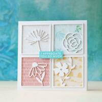 Squares Flower Metal Cutting Dies DIY Scrapbooking Photo Album Paper Card Craft