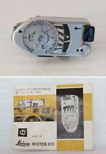 Leica meter MR Argent Chromé Pour Leica M2 M3 M4 M4-2 M4-P