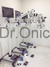 Surgical Microscope 5 Step,Floor Type ,0-180° Inclinable ,LED, HD Camera FuL SET