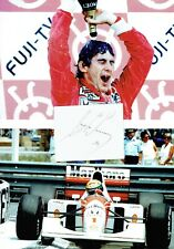 Ayrton Senna Signed Page Dated 1992 With Two 12x8 Photos AFTAL/UACC RD