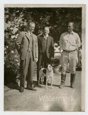 Vintage snapshot   photo Men with a dog