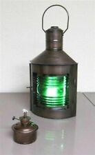 "12"" Metal Starboard Lantern ~ Ship Oil Lamp ~ Nautical Maritime ~ Boat"