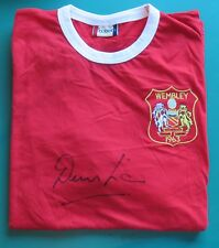 Denis Law Signed Manchester United Football Shirt AFTAL RD#175
