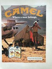 Camel Cigarettes Vintage 1983 Print Ad