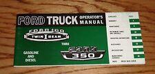 1966 Ford Truck Owners Operators Manual 66 Pickup