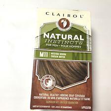 Clairol Natural Instincts Semi-Permanent Hair Color Men M11 Medium Brown READ