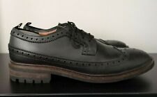 Mens French Connection FCUK Black Leather Brogues VGC - UK 11