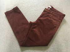 ORVIS Brown Needlecord Trousers Cords (Altered) UK10 Short