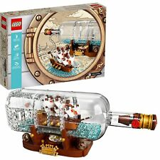 LEGO Ideas: Ship-in-A-Bottle - 21313 [Building Toys, Kids, 962 Pcs w/ Stand] NEW