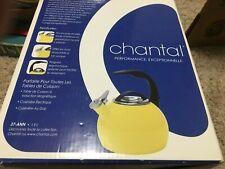 NEW IN BOX! Chantal Classic Whistle Teakettle Tea Kettle Yellow Enamel Stainless