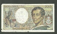 1992 France Banknote 200 Francs Currency note P155 Paper Money Devx Cents Francs