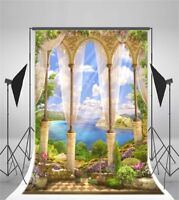 Baby 3x5ft Vinyl Background Palace Beside River Photo Backdrop Photography Props