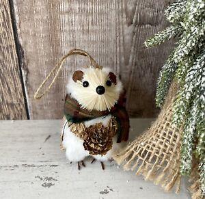 Hedgehog Bristle Brush Animal Christmas bauble Tree Decoration Xmas Hanging Gift