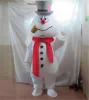 Christmas Frosty The Snowman Mascot Costume Parade Character Fancy Cosplay Dress