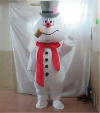 Christmas Frosty The Snowman Mascot Costume Parade Party Fancy Cosplay Dress