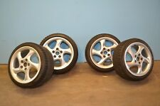 Set of (4) Porsche Aluminum Alloy 5-Spoke Wheels with Pirelli Winter Tires