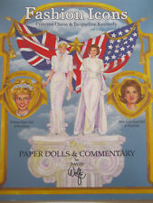 FASHION ICONS Princess Diana and First Lady Jacqueline Kennedy Paper Doll Book
