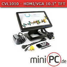 "CVL1010 - HDMI/VGA 10.1"" TFT - Touchscreen USB - PAL/NTSC - IR - Audio [LED]"