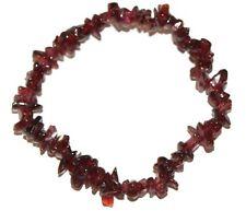 Garnet crystal chip healing bracelet - Free Postage