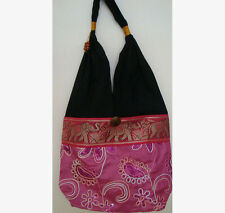 Sequin Hobo Bag with Elephants Style A in many Colours handmade in Thailand!