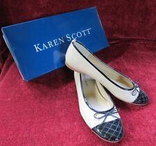 Shoe Karen Scott Bow Tie Flat 7.5B Layla - fits like a 7