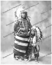 Vintage photo-Native American-Head Dress-8x10 in.