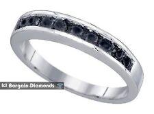 black diamond .50 carat wedding anniversary 925 ring enhancer bride spacer