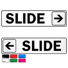 Doors Signs Slide Direction Self Abrasive Vinyl Decal Sticker Home Office Pub