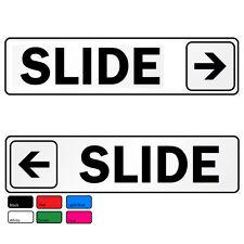 Doors Signs Slide Direction Self Abrasive Vinyl Decal Sticker Home Office Pub
