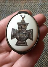 Halcyon Days Enamel Trinket Box Pill Pot 'The Victoria Cross' 150th Anniversary