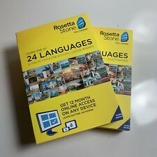 Lot Of 2 Rosetta Stone Learn 1 of 24 Languages choose one-12month online Access