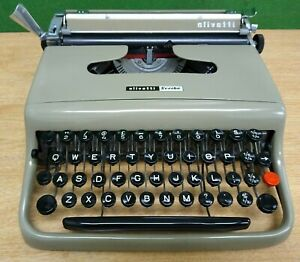 TYPEWRITER OLIVETTI SCRIBE VALENTINE 'S GRANDAD 50s RETRO MODERNIST RARE WORKING