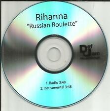 RIHANNA Russian Roulette w/ RADIO & INSTRUMENTAL TRX PROMO DJ CD single 2009 USA