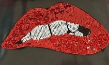 ROCKY HORROR PICTURE SHOW LIPS 1970's Movie XXXL Sew On Sequin Motif Costume