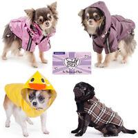 Ancol Small Bite Dog Puppy Coat Mac Pink Damson Duck Warm Duffel Fleece