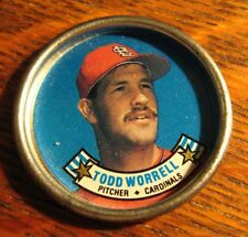 Todd Worrell Baseball Button Coin - Vintage 1988 Saint Louis Cardinals Topps MLB