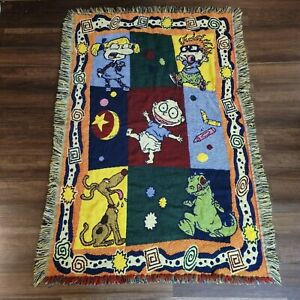 Vintage RUGRATS Tapestry Throw Blanket Tommy Pickles-THE NORTHWEST COMPANY
