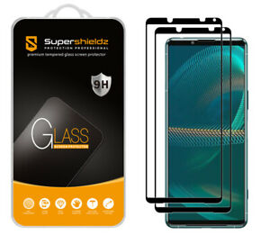 2X Supershieldz Full Cover Tempered Glass Screen Protector for Sony Xperia 5 III